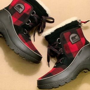 NWT SOREL Winter Buffalo Plaid Tivoli III Boot SZ6